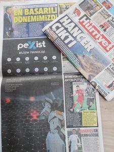 Hürriyet gazetesi kapak reklamı.